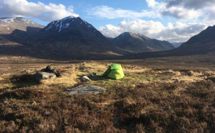 Bivouac dasn les Highlands