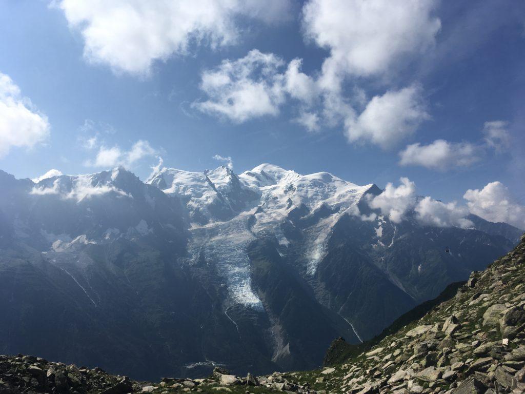 Vue sur le Mont Blanc depuis le Brévent