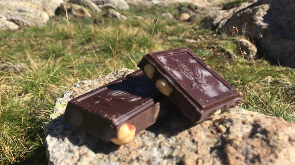 Les Glucides en Randonnée, avec un bon petit carré de chocolat...