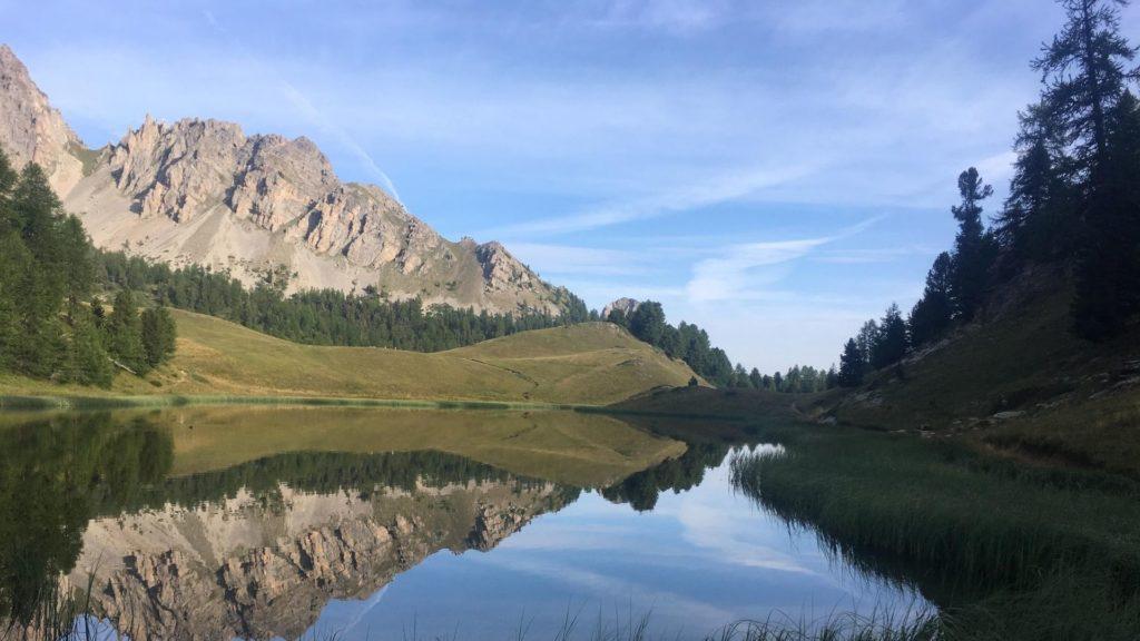 Le genre de lac magique idéal, comme ici dans les Alpes...