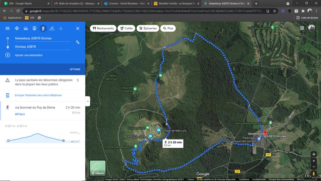 Préparer sa randonnée avec Google Maps